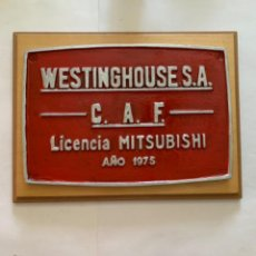 Trenes Escala: RENFE PLACA ORIGINAL MITSUBISHI. Lote 214018115