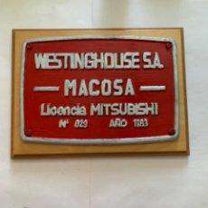 Trenes Escala: RENFE PLACA ORIGINAL MITSUBISHI. Lote 214018355