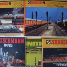 Trenes Escala: LOTE CATALOGO MANUAL TREN MINIATURA A ESCALA FLEISCHMANN ARNOLD-N MINITRIX 1984 1985. Lote 214370695