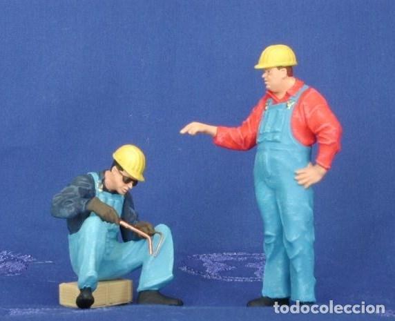 Trenes Escala: Preiser 45076 Trabajadores con cascos protectores de soldadura Escala: 1:22,5/G/LGB Nuevo Model raro - Foto 4 - 215697478