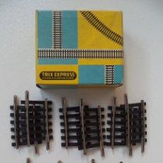 Trenes Escala: 10 VIAS PEQUEÑAS SEMICURVAS TRIX ESCALA HO NUEVAS. Lote 217637118