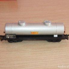 Trenes Escala: JOUEF ANTIGUO VAGON CISTERNE SHELL REF 651 EN MUY BUEN ESTADO. Lote 217826793