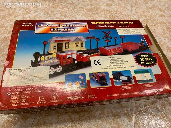 Trenes Escala: Bonito tren a pilas, con muchos complementos. CLASSIC WESTERN EXPRESS. en caja original. ver fotos - Foto 21 - 218831425