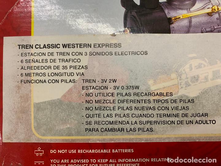 Trenes Escala: Bonito tren a pilas, con muchos complementos. CLASSIC WESTERN EXPRESS. en caja original. ver fotos - Foto 23 - 218831425