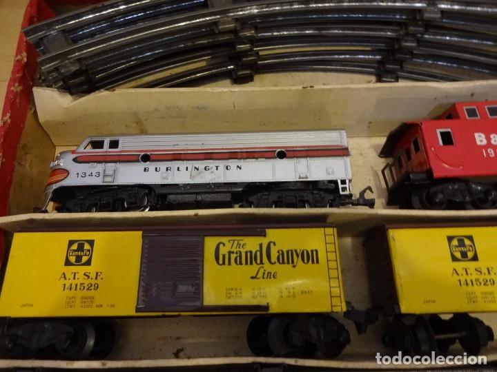 Trenes Escala: Antigua caja SET MODEL TRAIN. Made in Japan. Años 1960s - Foto 2 - 219177752