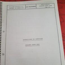 Trenes Escala: INSTRUCCIONES DE CONDUCCIÓN UNIDADES-TREN SERIE 3600 DE FEVE. Lote 219708771