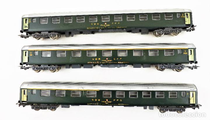 Trenes Escala: Jouef H0 Conjunto de tres coches de pasajeros SBB CFF - Foto 2 - 219839612