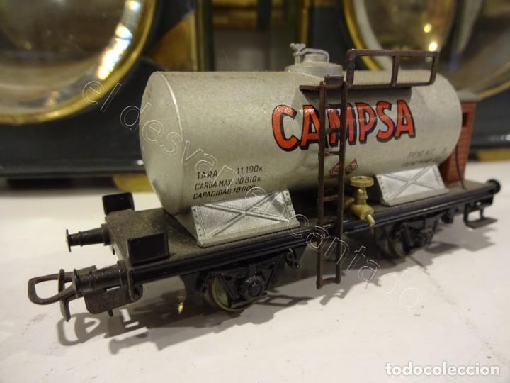 ELECTROTREN H0. VAGON CISTERNA CAMPSA (Juguetes - Trenes Escala H0 - Otros Trenes Escala H0)