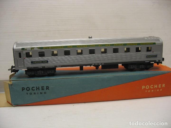 COCHE VIAJEROS DE POCHER ITALIA (Juguetes - Trenes Escala H0 - Otros Trenes Escala H0)