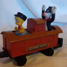 Trenes Escala: UN VAGON LOONEY TUNES PIOLÍN Y SILVESTRE DEL 1989. Lote 221591866