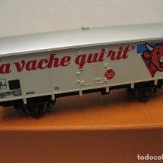 Trenes Escala: VAGON MERCANCIAS DE JOUEF LA VACA QUE RIE. Lote 221968363