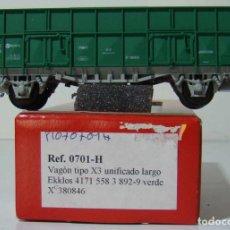 Trenes Escala: KTRAIN VAGON X3 UNIFICADO RENFE LARGO REF: 0701-H ESCALA H0 VERDE. Lote 222689146