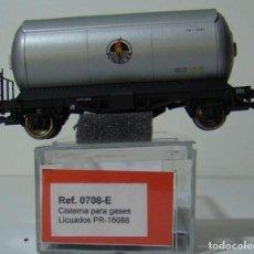 Trenes Escala: KTRAIN VAGON CISTERNA BUTANO SA REF: 0708-E ESCALA H0. Lote 222689708