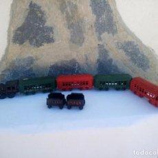 Trenes Escala: ANTIGUO TREN DE HIERRO COLADO FUNDIDO, 44 ST LOUIS & DH RIVER.R.R,SIRCA 1900,PESA 6,200KG. Lote 223136232