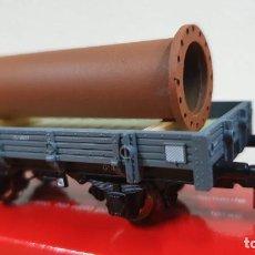 Trenes Escala: PLATAFORMA CON TUBO K-TRAIN. Lote 223910806