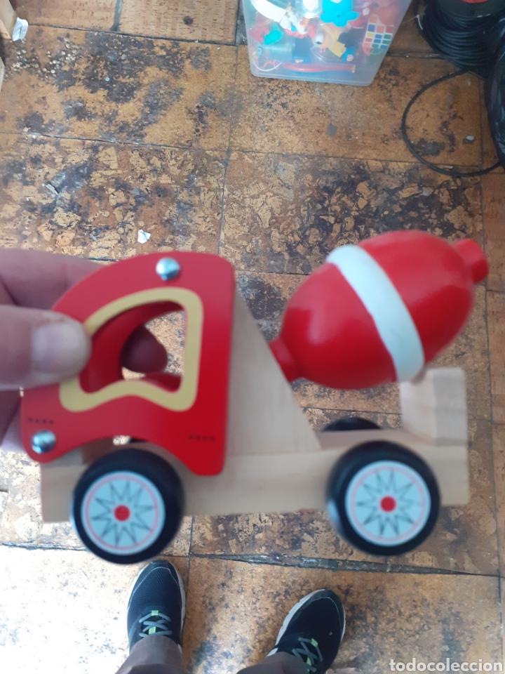Trenes Escala: Precioso camión hormigonera de madera juguete madera - Foto 2 - 224189938