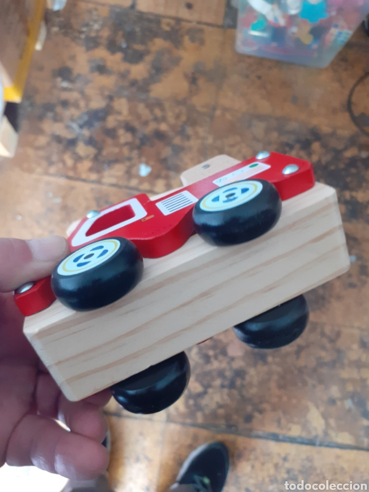 Trenes Escala: Precioso camión hormigonera de madera juguete madera - Foto 3 - 224189938