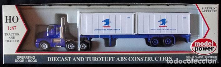 CAMION HO 1:87 MODEL POWER 22001 - UNITED STATES POSTAL SERVICE - DESCATALOGADO - MUY RARO - (Juguetes - Trenes Escala H0 - Otros Trenes Escala H0)