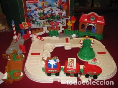 CHRISTMAS TRAIN SET LITTLE PEOPLE FISHER-PRICE, 2005, DESCATALOGADO, NUEVO CON CAJA (Juguetes - Trenes - Varios)