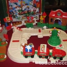 Trenes Escala: CHRISTMAS TRAIN SET LITTLE PEOPLE FISHER-PRICE, 2005, DESCATALOGADO, NUEVO CON CAJA. Lote 229218805