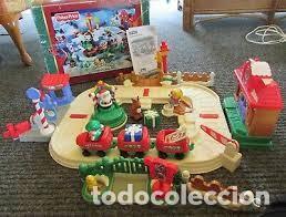 Trenes Escala: CHRISTMAS TRAIN SET LITTLE PEOPLE FISHER-PRICE, 2005, DESCATALOGADO, NUEVO CON CAJA - Foto 2 - 229218805