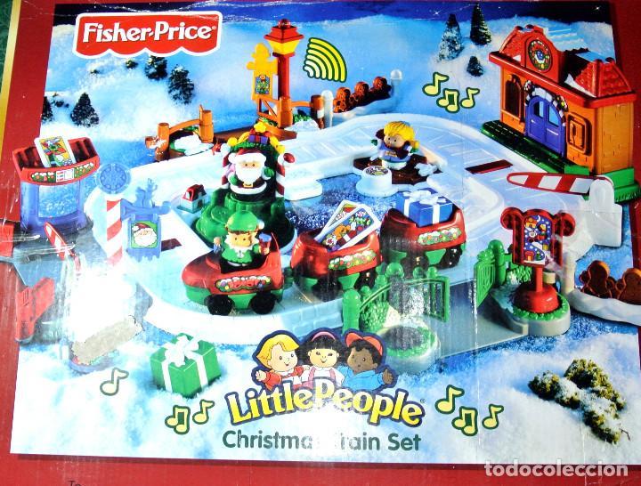 Trenes Escala: CHRISTMAS TRAIN SET LITTLE PEOPLE FISHER-PRICE, 2005, DESCATALOGADO, NUEVO CON CAJA - Foto 4 - 229218805