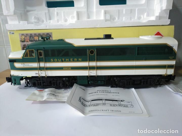 Trenes Escala: ARISTOCRAFT DIESEL LOCOMOTIVE ALCO FA-1 REF: 22019 ESCALA G 1:29 - Foto 2 - 230271620