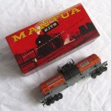 Trenes Escala: VAGÓN DE TREN H0 TANQUE DE PRODUCTOS QUÍMICOS DE MANTUA EN CAJA. Lote 231313300