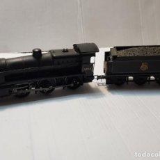 Trenes Escala: LOCOMOTORA VAPOR BACHMANN 31844 Y VAGON BRITISH RAILWAYS ESCALA H0. Lote 231648950