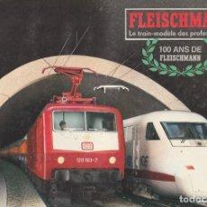 Trenes Escala: CATALOGO DE TREN FLEISCHMANN 1987/88, 100 AÑOS DE FLEISCHMANN. Lote 232234025