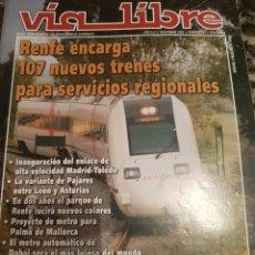 Trenes Escala: REVISTA VÍA LIBRE N°491 NOVIEMBRE 2005. Lote 232693470