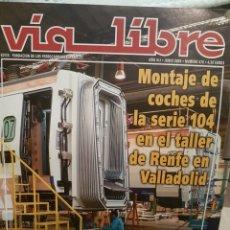 Trenes Escala: REVISTA VÍA LIBRE N°475 JUNIO 2004. Lote 232700545