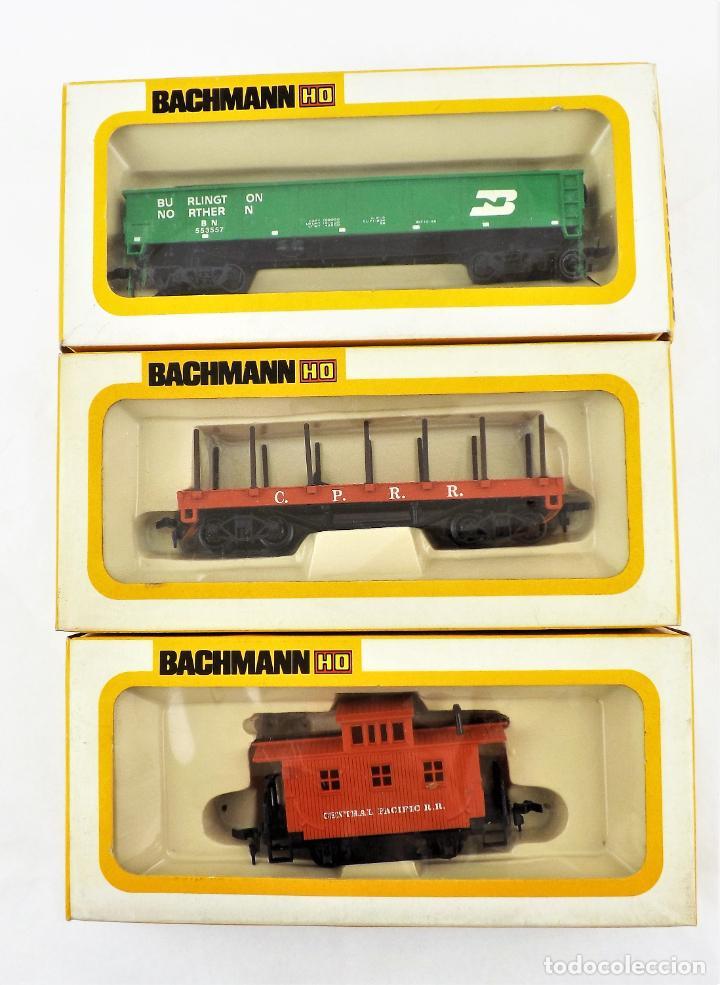 BACHMANN CONJUNTO DE TRES VAGONES H0 (Juguetes - Trenes Escala H0 - Otros Trenes Escala H0)