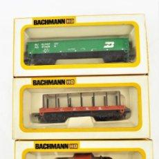 Trenes Escala: BACHMANN CONJUNTO DE TRES VAGONES H0. Lote 233245860