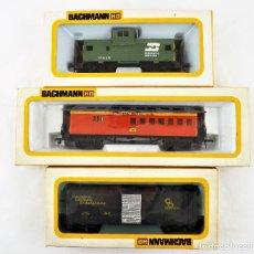 Trenes Escala: BACHMANN CONJUNTO DE TRES UNIDADES VAGONES H0. Lote 233246105