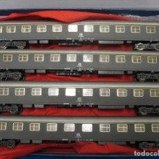 Trenes Escala: LOTE SET DE 4 VAGONES LILIPUT DE VIAJEROS. Lote 233925415