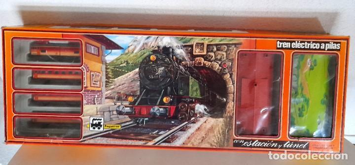 Trenes Escala: Tren Pequetren Viajeros Estación Túnel Ref 516 Fabricado España Seinsa Caja Original a pilas - Foto 4 - 234004105