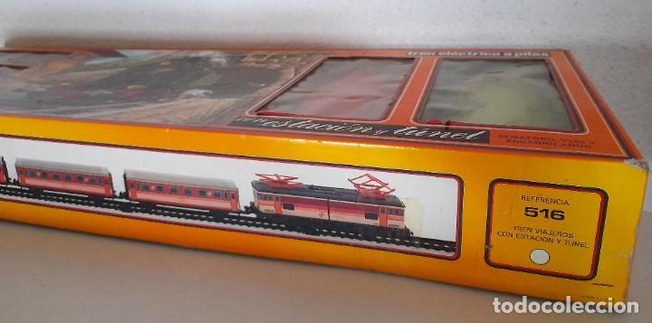 Trenes Escala: Tren Pequetren Viajeros Estación Túnel Ref 516 Fabricado España Seinsa Caja Original a pilas - Foto 5 - 234004105