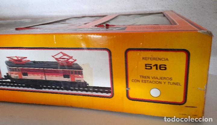 Trenes Escala: Tren Pequetren Viajeros Estación Túnel Ref 516 Fabricado España Seinsa Caja Original a pilas - Foto 7 - 234004105