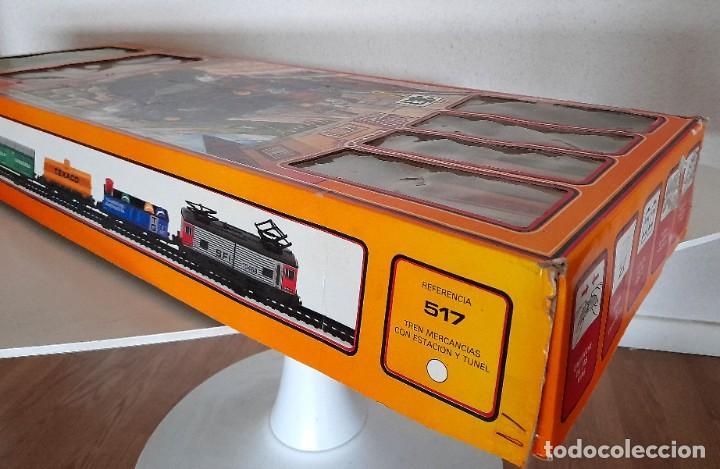 Trenes Escala: Tren Pequetren Viajeros Estación Túnel Ref 516 Fabricado España Seinsa Caja Original a pilas - Foto 12 - 234004105