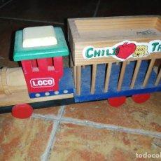 Trenes Escala: TREN DE MADERA DIDACTICO. Lote 234026685