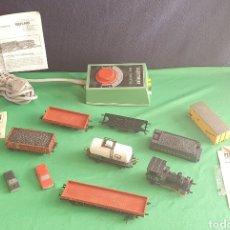 Trenes Escala: LOTE DE TREN Y COCHES FLEISCHMANN Y MECCANO TAL CUAL COMO SE VE EN FOTOS. Lote 234676875