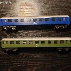 Trenes Escala: 2 VAGÓNES DE PASAJEROS , ESCALA H0. Lote 234954050
