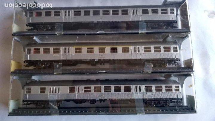 ROWA H0, LOTE DE 3 COCHES PASAJEROS. EN CAJA ORIGINAL CON PRECINTOS. VÁLIDO IBERTREN,ROCO,ETC (Juguetes - Trenes Escala H0 - Otros Trenes Escala H0)