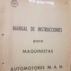 Trenes Escala: FERROCARRILES CATALANES. MANUAL PARA MAQUINISTAS DE AUTOMOTORES MAN. Lote 236990950