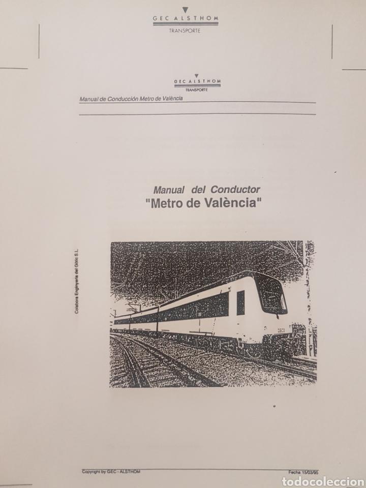 Trenes Escala: Ferrocarriles. FGV. Manual conductor serie 3900 de Alsthom - Foto 2 - 236994635