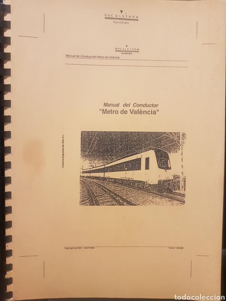 FERROCARRILES. FGV. MANUAL CONDUCTOR SERIE 3900 DE ALSTHOM (Juguetes - Trenes - Varios)