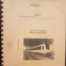 Trenes Escala: FERROCARRILES. FGV. MANUAL CONDUCTOR SERIE 3900 DE ALSTHOM. Lote 236994635