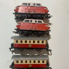 Trenes Escala: VAGONES PARA TREN ELÉCTRICO ESCALA H0 RENFE 1605 1006 JYESA. Lote 238248565