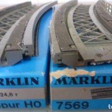 Trains Échelle: 7 CURVAS MARKLIN- FOTO 199, USADAS. Lote 240287425